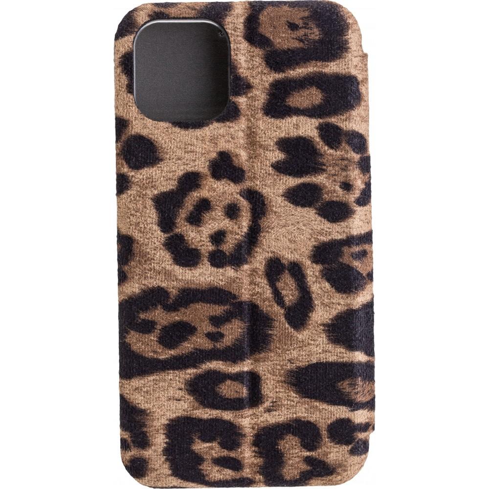 COMMANDER Book Case CURVE für Apple iPhone 11 Pro Leopard