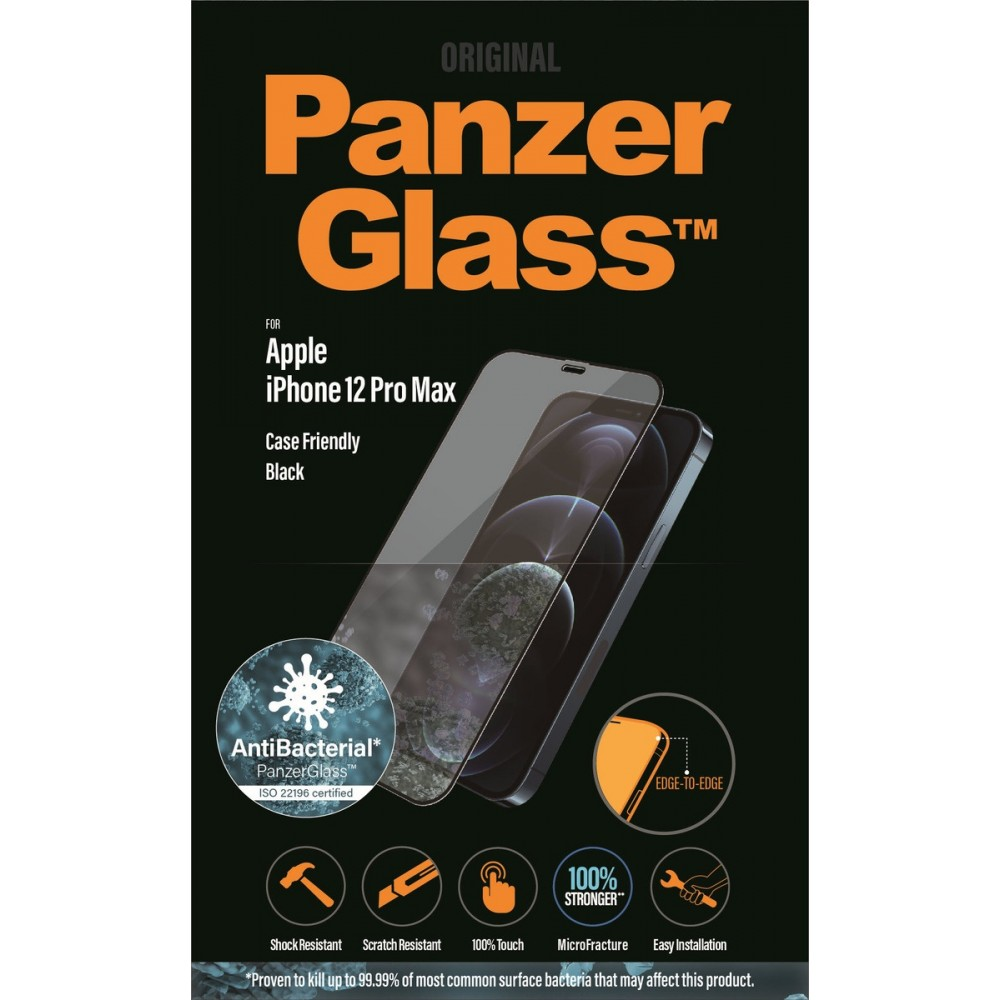PanzerGlass E2E iPhone 12 Pro Max Case Friendly Antibakteriel