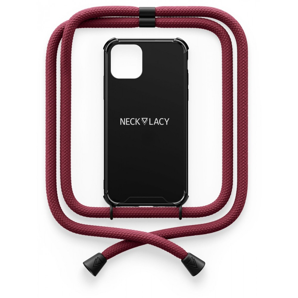 NECKLACY Necklace Case iPhone 12 / 12 Pro Black Berry