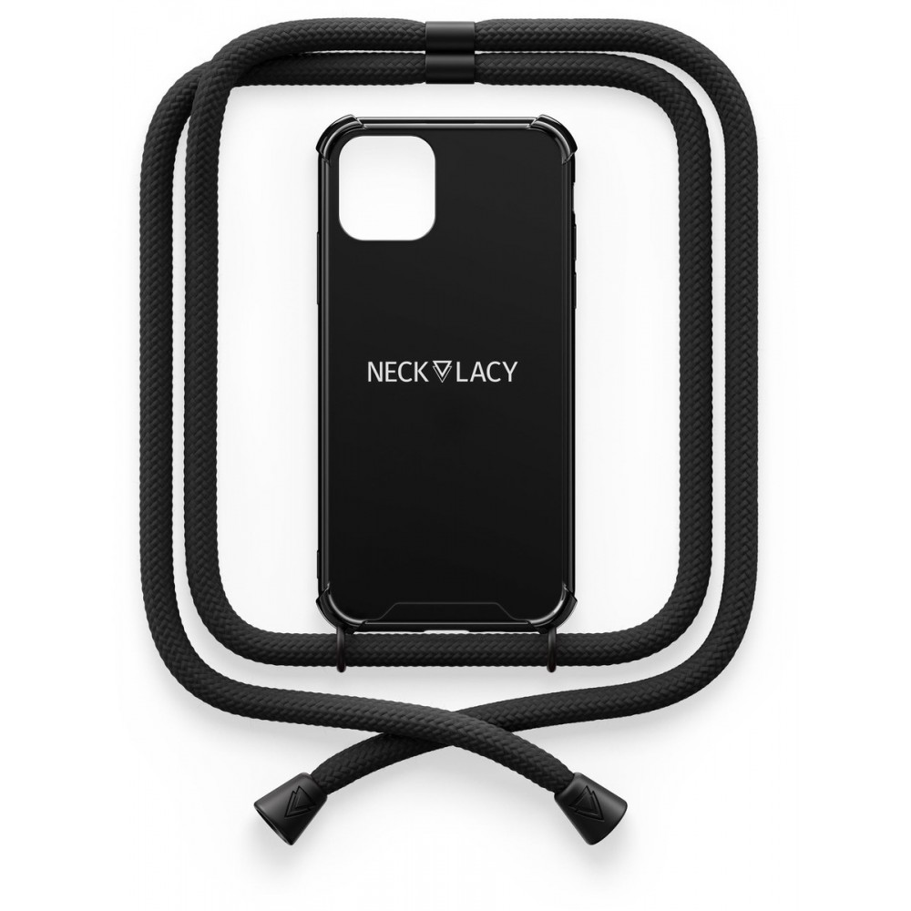 NECKLACY Necklace Case iPhone 12 / 12 Pro Pitch Black