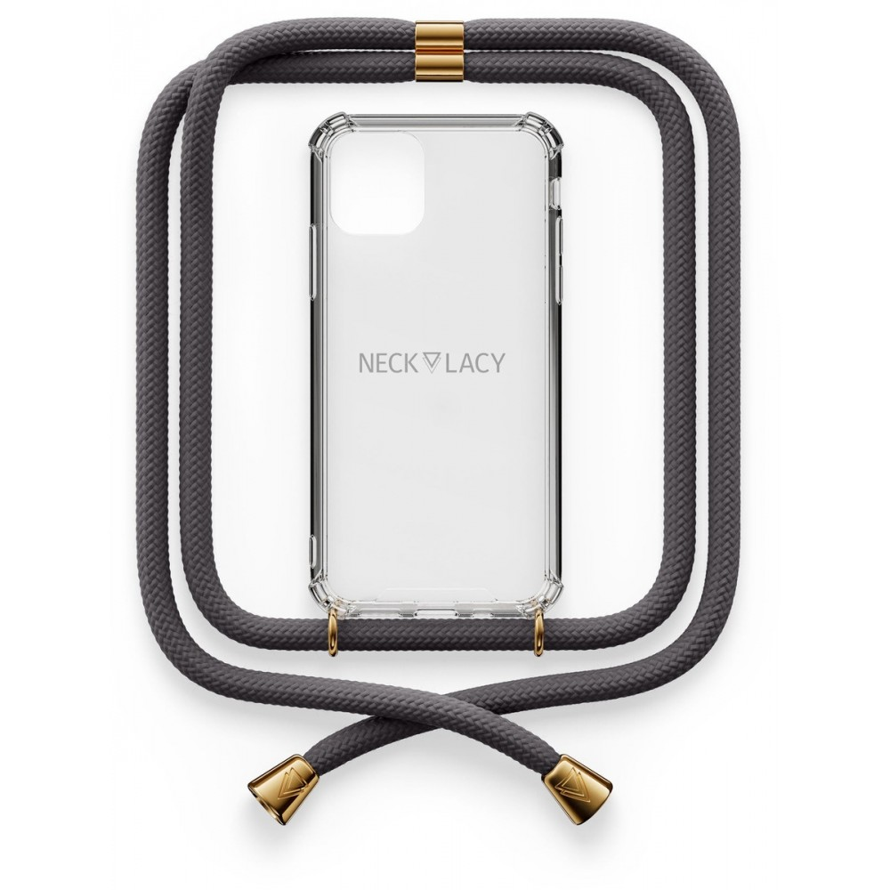 NECKLACY Necklace Case iPhone 12 Mini Stormy Grey