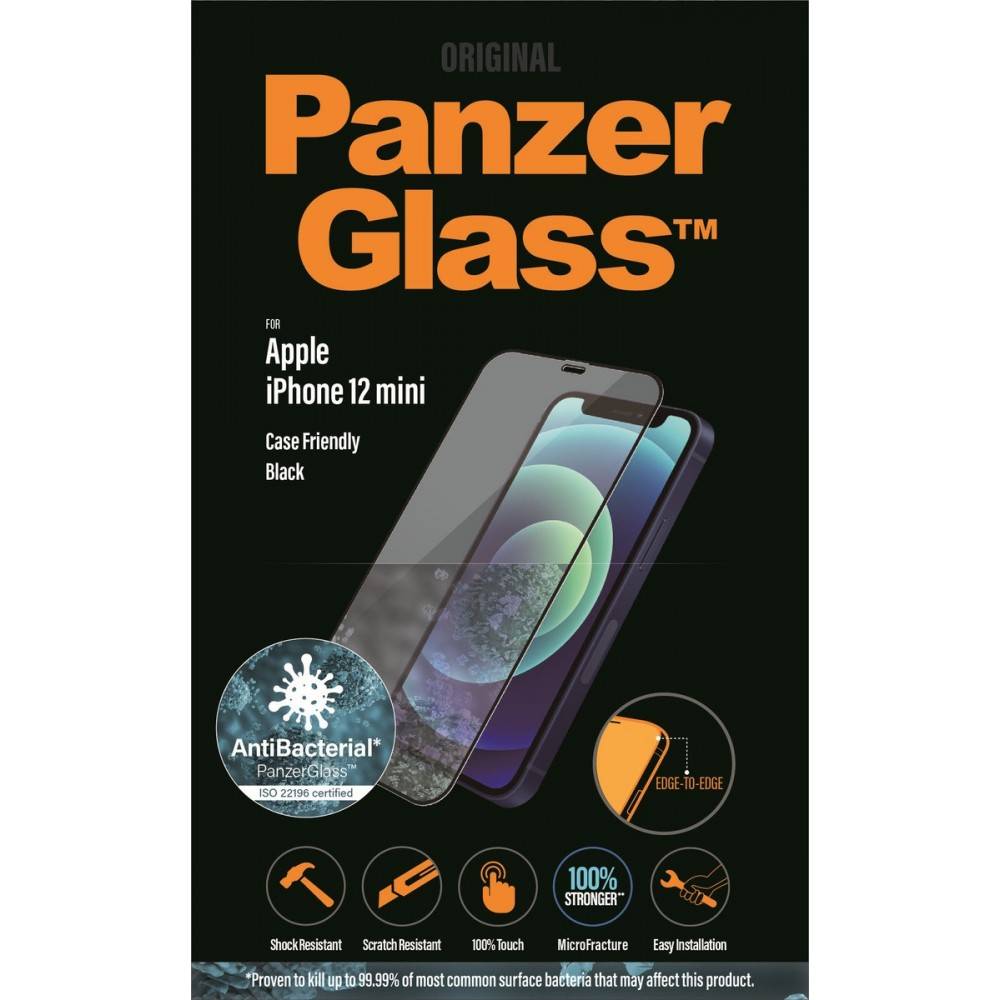 PanzerGlass E2E iPhone 12 Mini, Case Friendly Antibakteriel