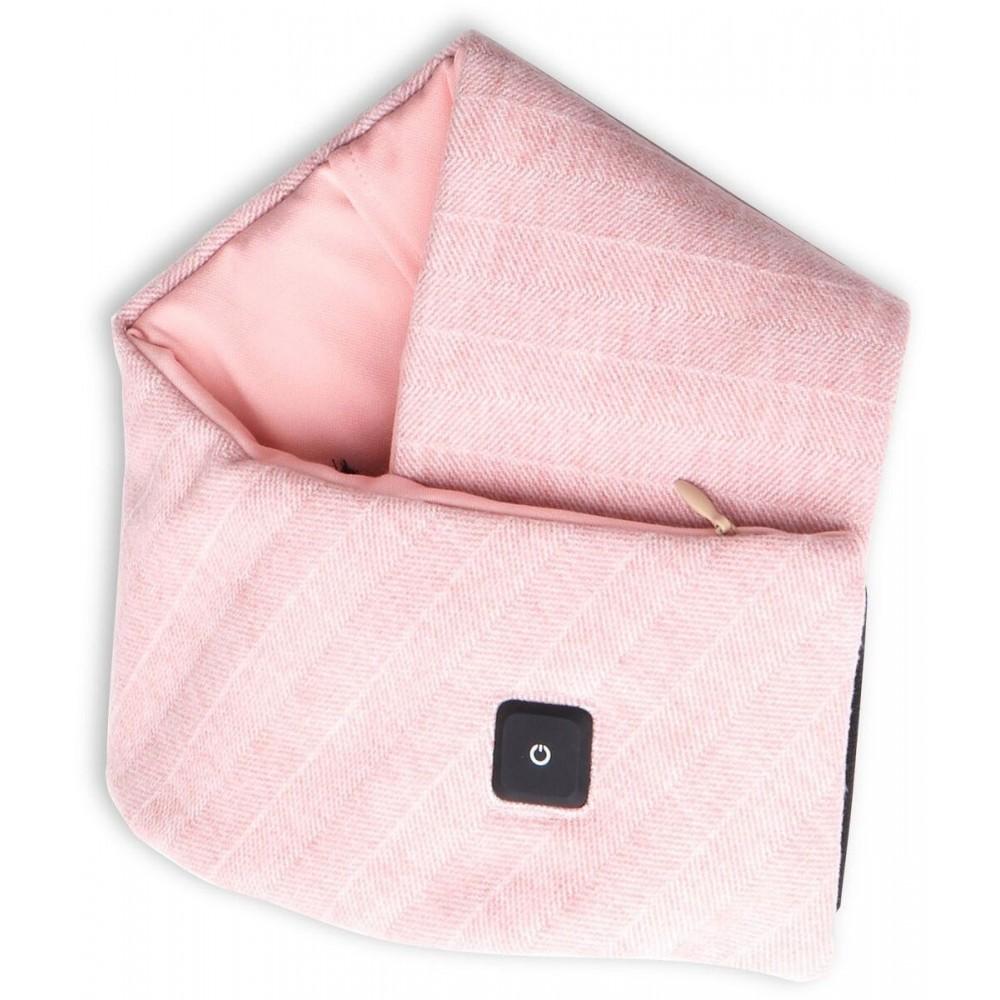4smarts Beheizter Schal mit Powerbank, rosa