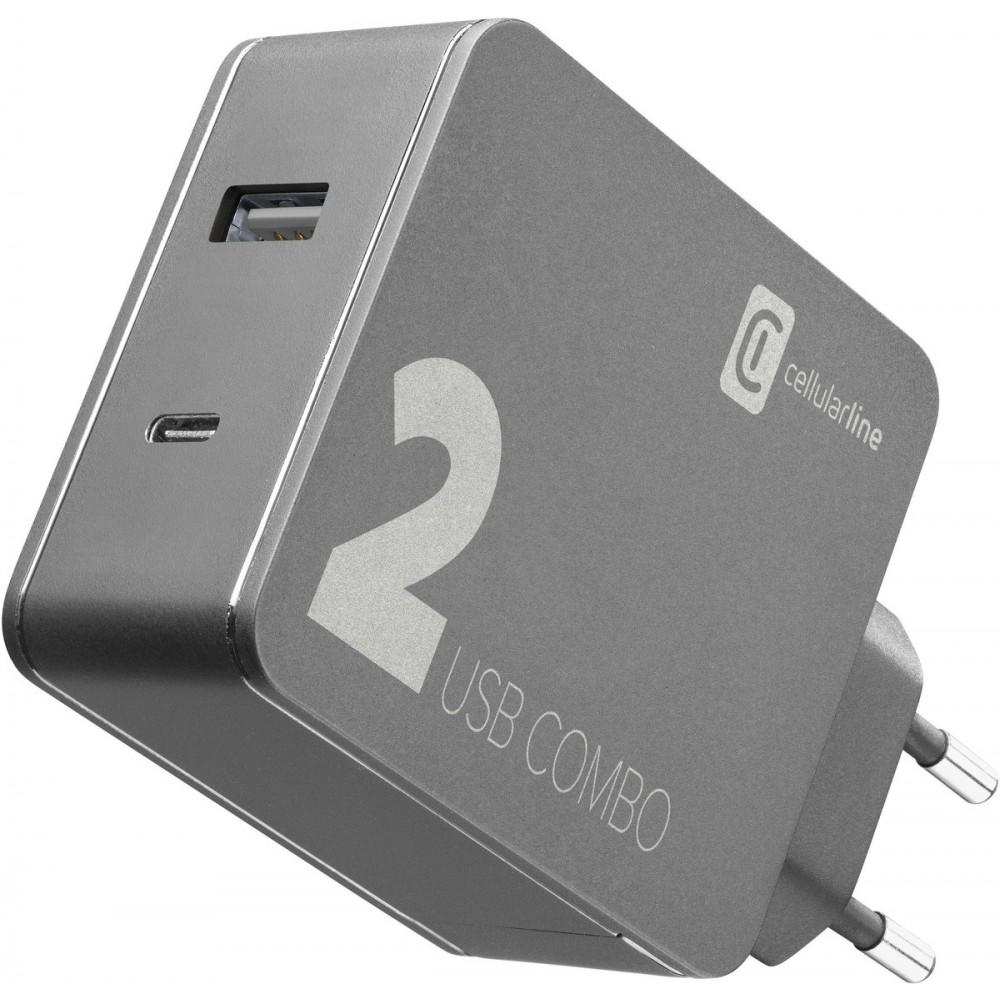 Cellularline Multi-Power 2 Combo (USBC 30W&USB 12W) f. iPhone